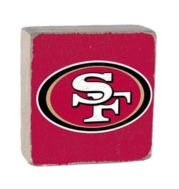 RUSTIC MARLIN San Francisco 49ers Rustic Wood Team Block