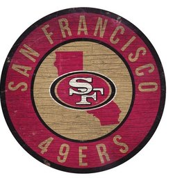 FAN CREATIONS San Francisco 49ers Round State Sign