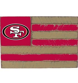 RUSTIC MARLIN San Francisco 49ers Rustic Team Flag