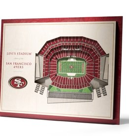YOU THE FAN San Francisco 49ers 5-Layer 3D Stadium Wall Art