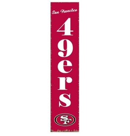 RUSTIC MARLIN San Francisco 49ers Vertical Rustic Sign