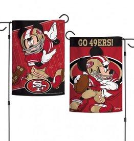 """WINCRAFT San Francisco 49ers Disney Mickey Mouse 12.5"""" x 18"""" Garden Flag"""