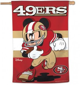 "WINCRAFT San Francisco 49ers Disney Mickey Mouse 28"" x 40"" House Flag"