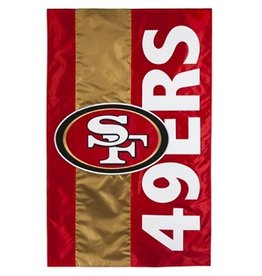 "EVERGREEN San Francisco 49ers 28"" x 44"" Striped House Flag"