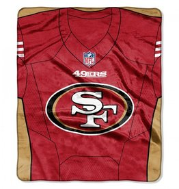 "San Francisco 49ers 50in x 60in NFL ""Jersey"" Royal Plush Raschel Throw"