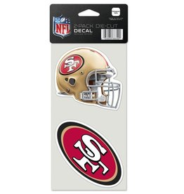 San Francisco 49ers Set of Two 4x4 Perfect Cut Decals