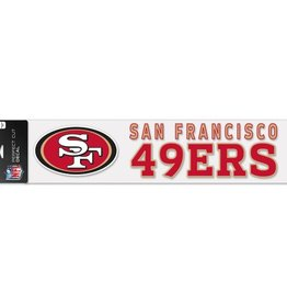 "WINCRAFT San Francisco 49ers 4""x17"" Perfect Cut Decals"