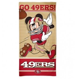 WINCRAFT San Francisco 49ers Disney Mickey Mouse Beach Towel