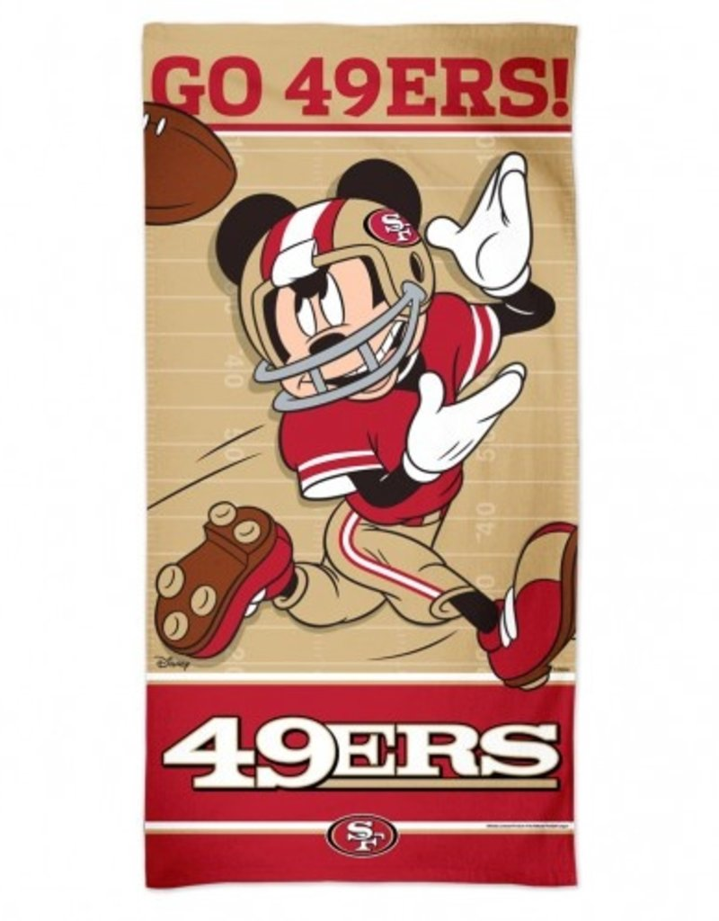 Wincraft San Francisco 49ers Disney Mickey Mouse Beach Towel