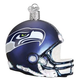OLD WORLD CHRISTMAS Seattle Seahawks Helmet Ornament