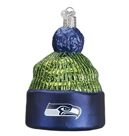 OLD WORLD CHRISTMAS Seattle Seahawks Beanie Ornament