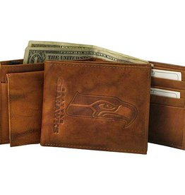 RICO INDUSTRIES Seattle Seahawks Genuine Leather Vintage Billfold Wallet