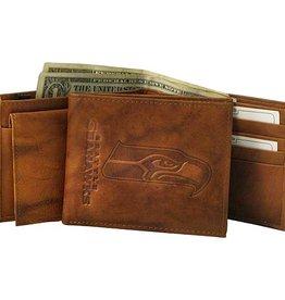 Seattle Seahawks Genuine Leather Vintage Billfold Wallet