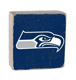 RUSTIC MARLIN Seattle Seahawks Rustic Wood Team Block