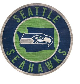FAN CREATIONS Seattle Seahawks Round State Sign