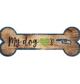 FAN CREATIONS Seattle Seahawks Dog Bone Sign