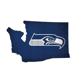 FAN CREATIONS Seattle Seahawks Team Logo State Sign