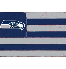 RUSTIC MARLIN Seattle Seahawks Rustic Team Flag