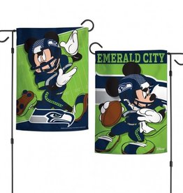 "WINCRAFT Seattle Seahawks Disney Mickey Mouse 12.5"" x 18"" Garden Flag"