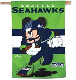 "WINCRAFT Seattle Seahawks Disney Mickey Mouse 28"" x 40"" House Flag"
