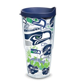 Seattle Seahawks 24oz Tervis All Over Print Tumbler