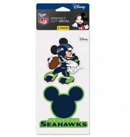WINCRAFT Seattle Seahawks Set of Two DISNEY 4x4 Perfect Cut Decals