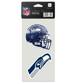 Seattle Seahawks Set of Two 4x4 Perfect Cut Decals