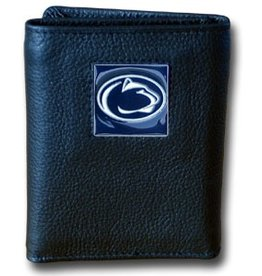 SISKIYOU GIFTS Penn State Nittany Lions Executive Black Leather Trifold Wallet