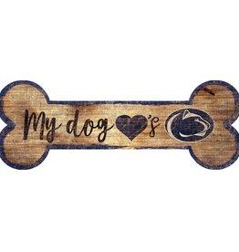 FAN CREATIONS Penn State Nittany Lions Dog Bone Wood Sign