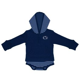 TWO FEET AHEAD Penn State Nittany Lions Striped Hooded Creeper