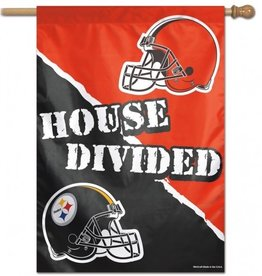 "WINCRAFT Pittsburgh Steelers / Cleveland Browns House Divided Vertical 28""x40"" Flag"