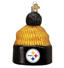 OLD WORLD CHRISTMAS Pittsburgh Steelers Beanie Ornament