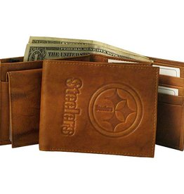 RICO INDUSTRIES Pittsburgh Steelers Genuine Leather Vintage Billfold Wallet