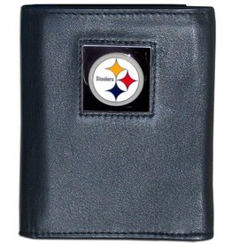 Pittsburgh Steelers Executive Black Leather Trifold Wallet