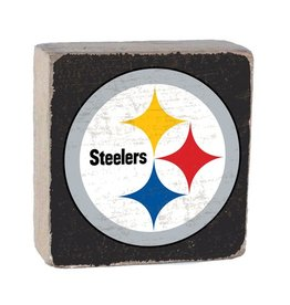 RUSTIC MARLIN Pittsburgh Steelers Rustic Wood Team Block