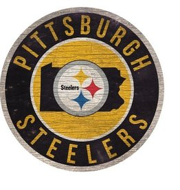 FAN CREATIONS Pittsburgh Steelers Round State Sign