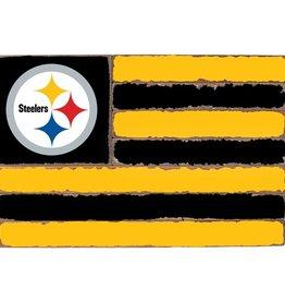 RUSTIC MARLIN Pittsburgh Steelers Rustic Team Flag
