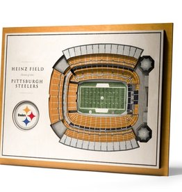 YOU THE FAN Pittsburgh Steelers 5-Layer 3D Stadium Wall Art