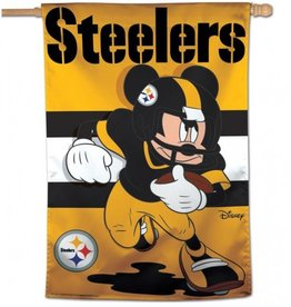"WINCRAFT Pittsburgh Steelers Disney Mickey Mouse 28"" x 40"" House Flag"