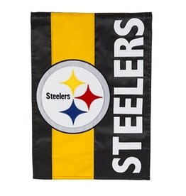 "EVERGREEN Pittsburgh Steelers 28"" x 44"" Striped House Flag"
