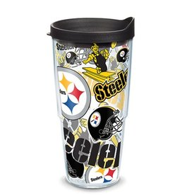 Pittsburgh Steelers 24oz Tervis All Over Print Tumbler