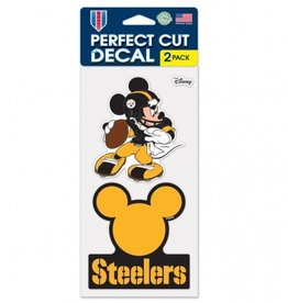 WINCRAFT Pittsburgh Steelers Set of Two DISNEY 4x4 Perfect Cut Decals