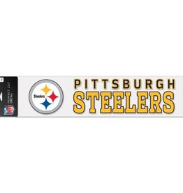 "WINCRAFT Pittsburgh Steelers 4""x17"" Perfect Cut Decals"