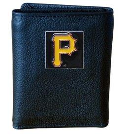 Pittsburgh Pirates Executive Black Leather Trifold Wallet