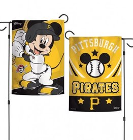 "WINCRAFT Pittsburgh Pirates Disney Mickey Mouse 12.5"" x 18"" Garden Flag"