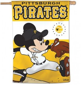 "WINCRAFT Pittsburgh Pirates Disney Mickey Mouse 28"" x 40"" House Flag"