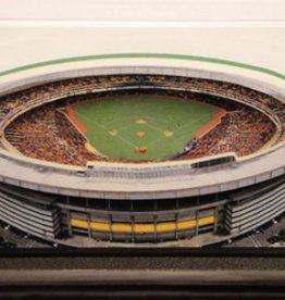 HOMEFIELDS Pittsburgh Pirates 19IN Lighted Replica Three Rivers Stadium (1970-2000)