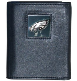 Philadelphia Eagles Executive Black Leather Trifold Wallet