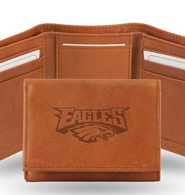 RICO INDUSTRIES Philadelphia Eagles Genuine Leather Vintage Trifold Wallet