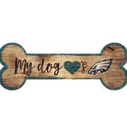 FAN CREATIONS Philadelphia Eagles Dog Bone Wood Sign